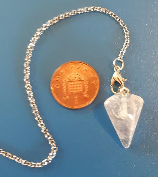 Clear Crystal Pendulum (B)