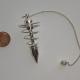 Silver-Plated Spiral Pendulum