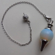Opalite Scrying Pendulum with chain & organza pouch
