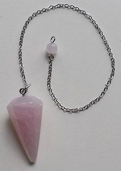 Rose Quartz Crystal Pendulum