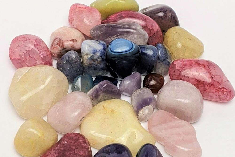 Crystals have their own radiatory energy and some participants are drawn to a particular stone on display that feels good to them.